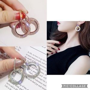 Jewelry - New Korean classic shiny crystal circle earring